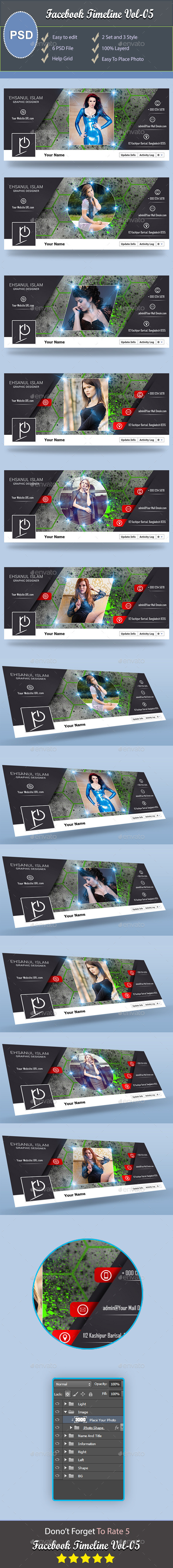 GraphicRiver Facebook Timeline Cover V5 9437200