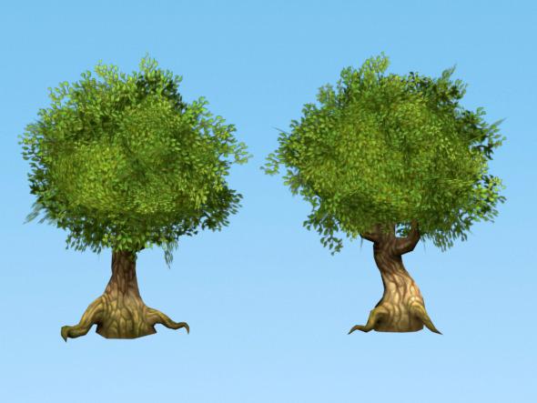 3DOcean Hand-painted tree 9437204