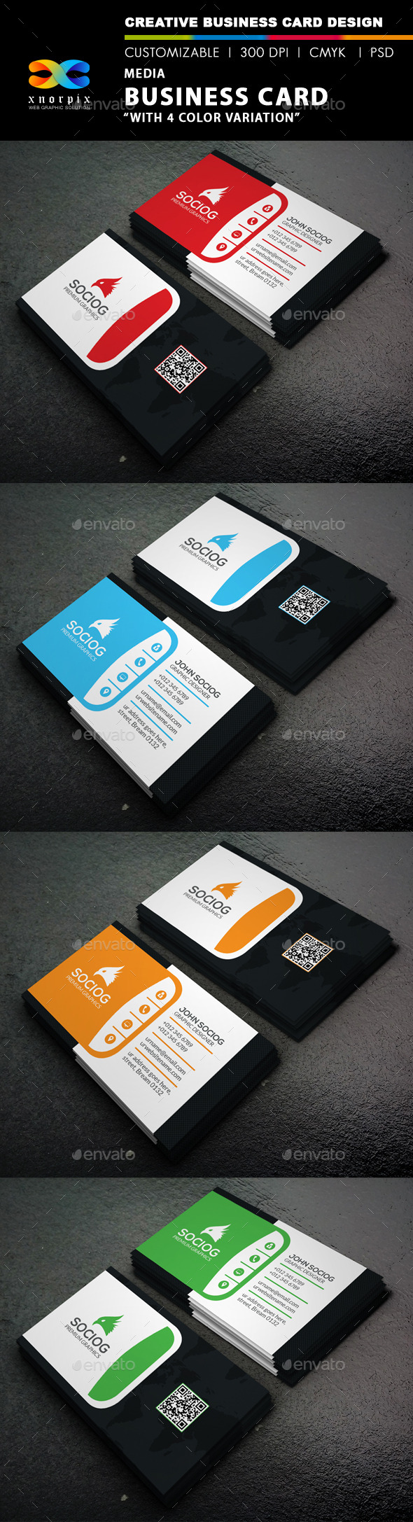 GraphicRiver Media Business Card 9437206