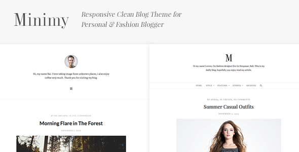 ThemeForest Minimy Responsive Clean Personal & Fashion Blog 9404897