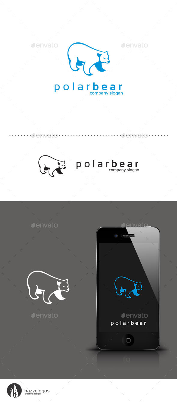 GraphicRiver Polar Bear Logo 9437329