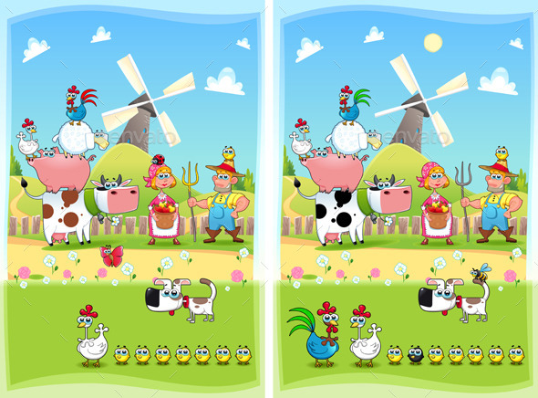 GraphicRiver Spot the Differences 9437335