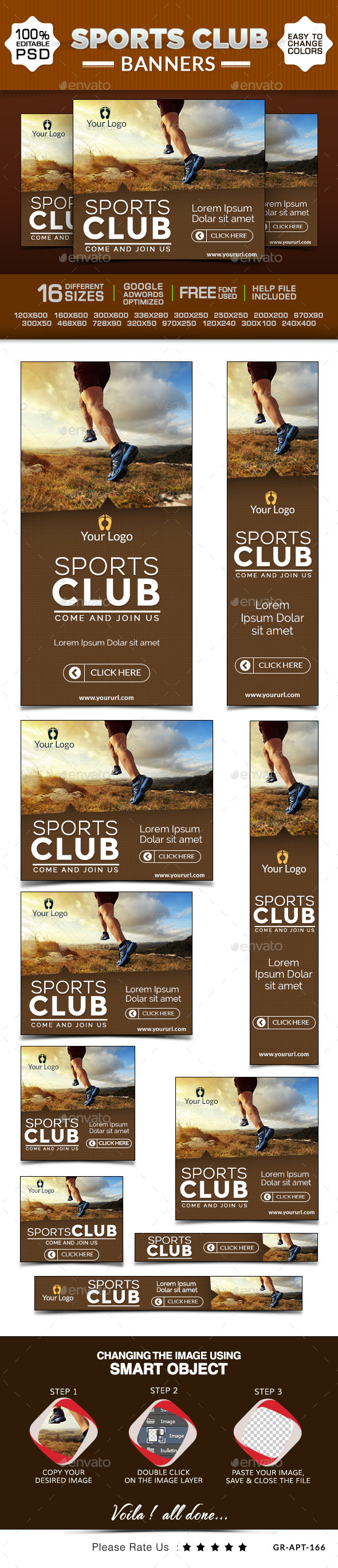 GraphicRiver Sports Club Banners 9437473