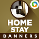 Home Stay & Hotel Booking Banners - GraphicRiver Item for Sale