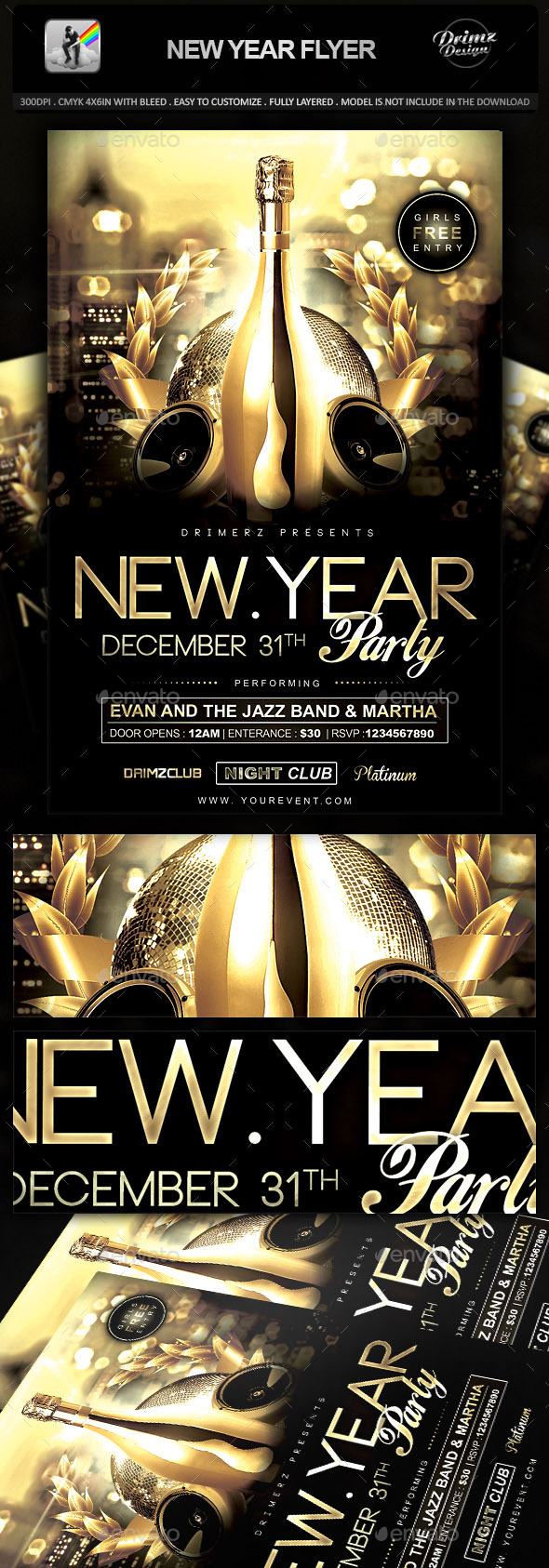 GraphicRiver New Year Flyer 9437576