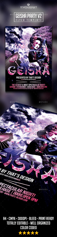 GraphicRiver Geisha Party Flyer Template V2 9438253