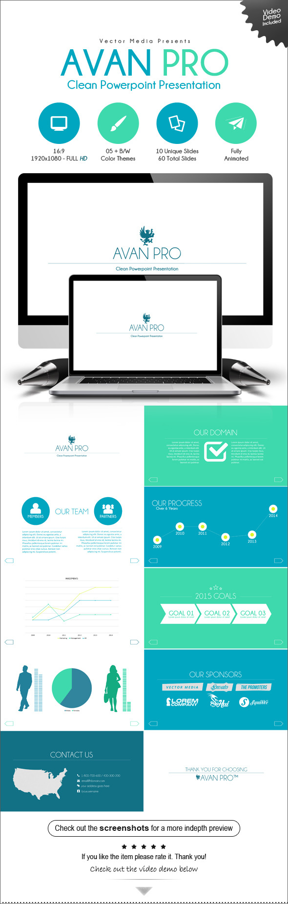 GraphicRiver Avan Pro Powerpoint Presentation 9412950