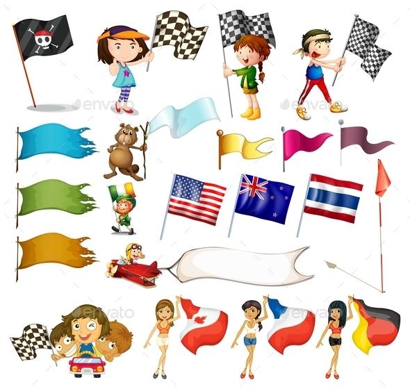 GraphicRiver Flag Set 9438728