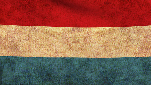 Luxembourg Flag 2 Pack Grunge and Retro