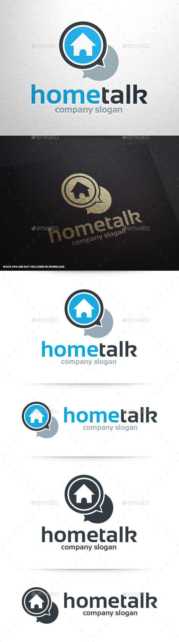GraphicRiver Home Talk Logo Template 9439418