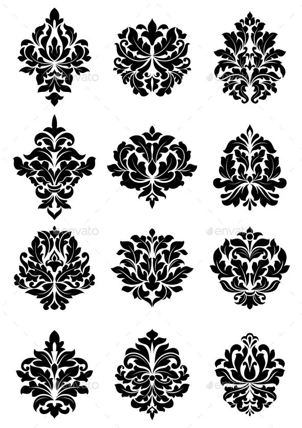 GraphicRiver Bold Floral Arabesque Motifs 9439728