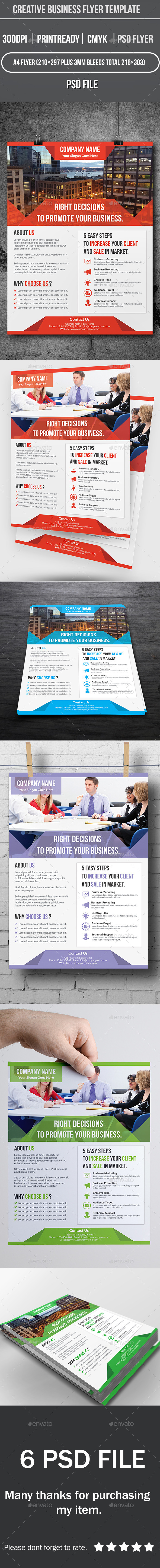 GraphicRiver creative business flyer template 9440215
