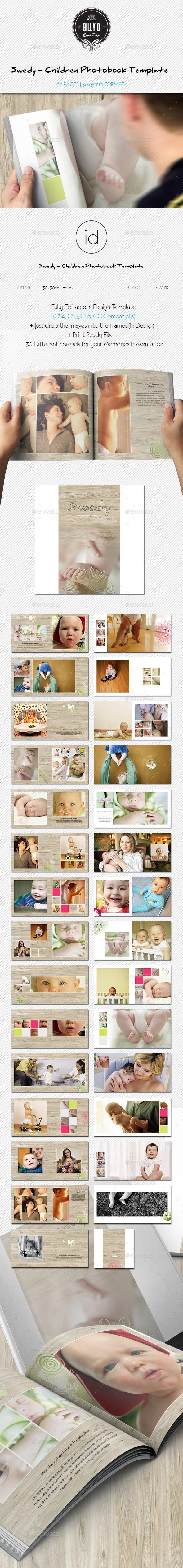 GraphicRiver Swedy Children Photobook Template 9407063