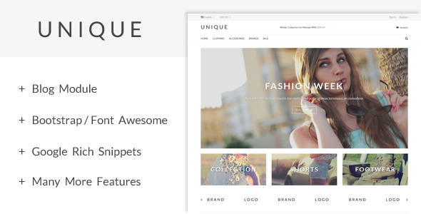 UniqueShop - Prestashop Theme Download