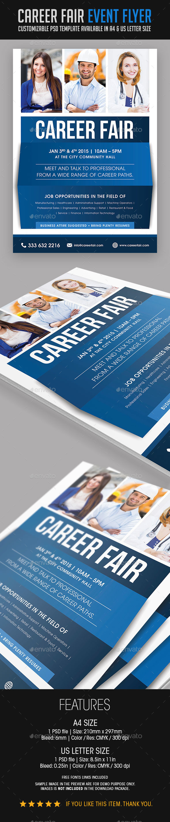 GraphicRiver Career Fair Event Flyer 9409287