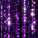 Fly Through Sparkling Colorful Particles