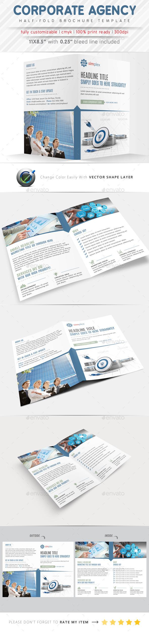 Corporate Agency Half Fold Brochure