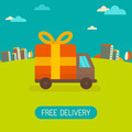 Free delivery concept in flat style - PhotoDune Item for Sale