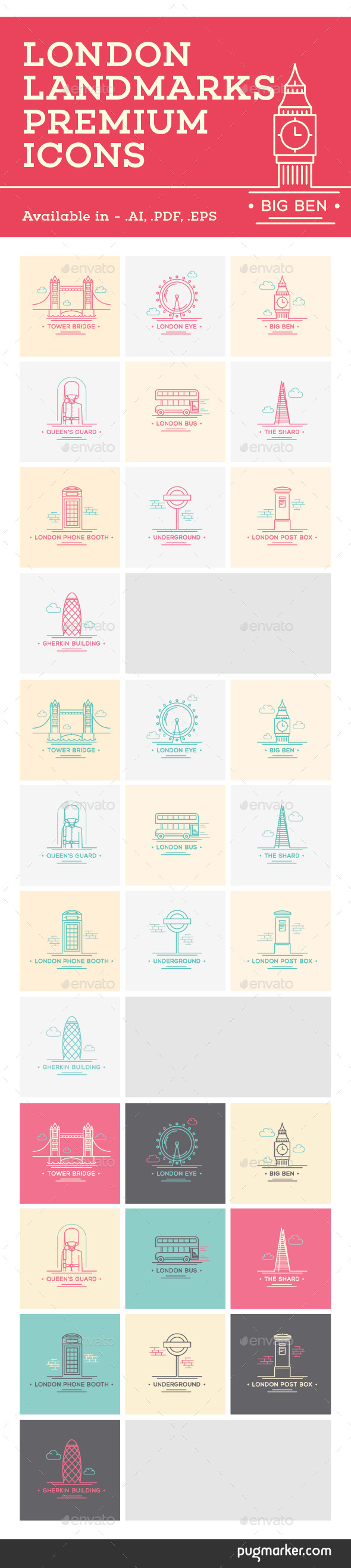 GraphicRiver London Landmarks Premium Icons 9441620