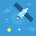 Satellite concept in flat style - PhotoDune Item for Sale