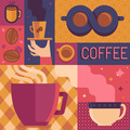 Coffee poster template in flat retro style - PhotoDune Item for Sale