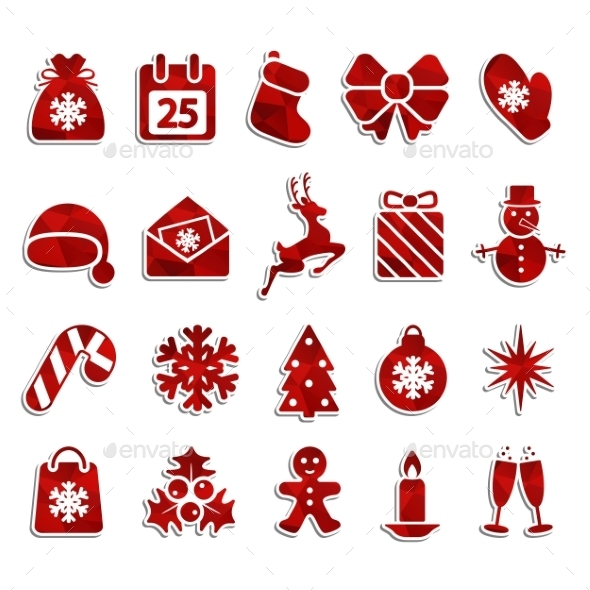 GraphicRiver Christmas Icons 9441661