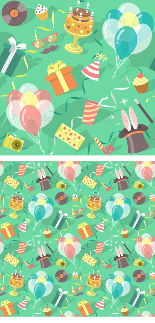 Birthday Party Celebration Seamless Pattern