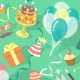 Birthday Party Celebration Seamless Pattern - GraphicRiver Item for Sale
