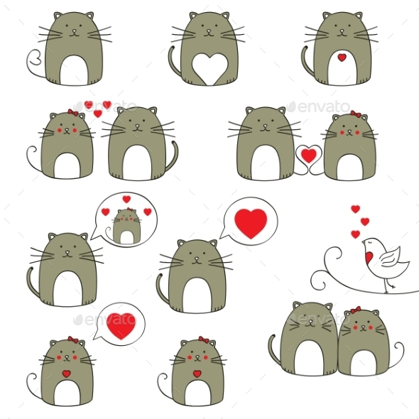 GraphicRiver Cats Set 9441852