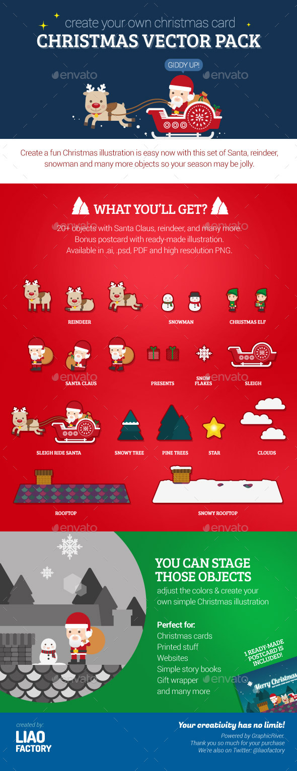 GraphicRiver Christmas Vector Pack 9406209