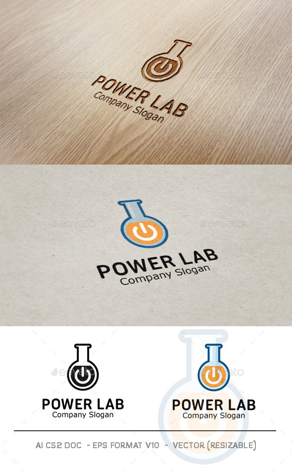 GraphicRiver Power Lab Logo 9442442