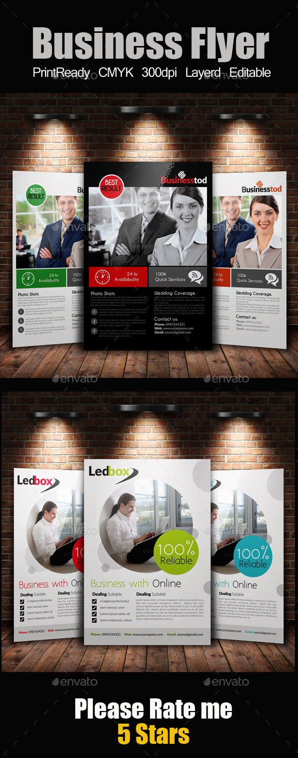 GraphicRiver A4 Multi Use Business Flyer Bundle 9442715