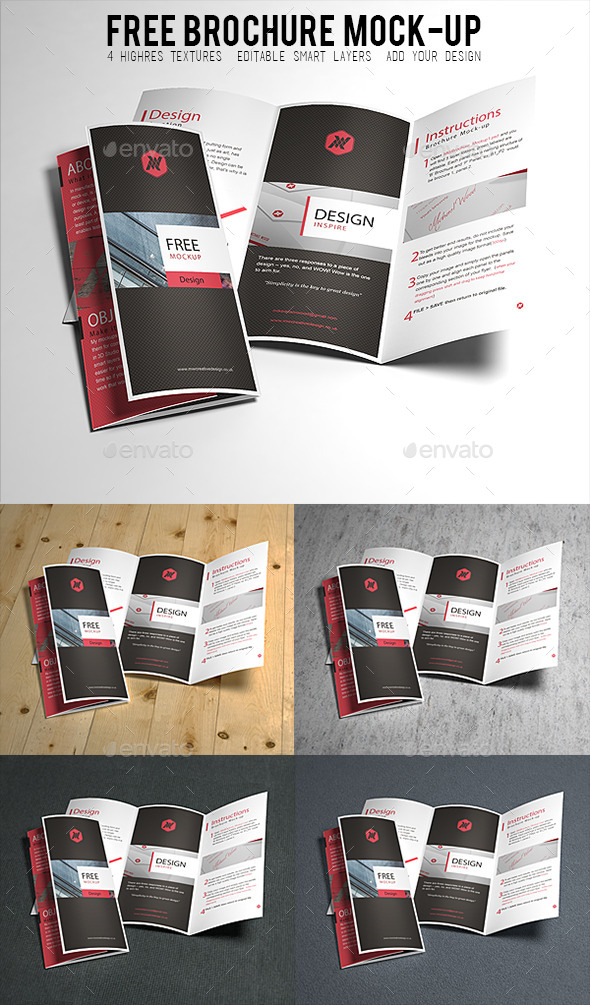 GraphicRiver Free Brochure Mock-up 9442912