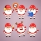Set of Cartoon Santa Claus Builders - GraphicRiver Item for Sale