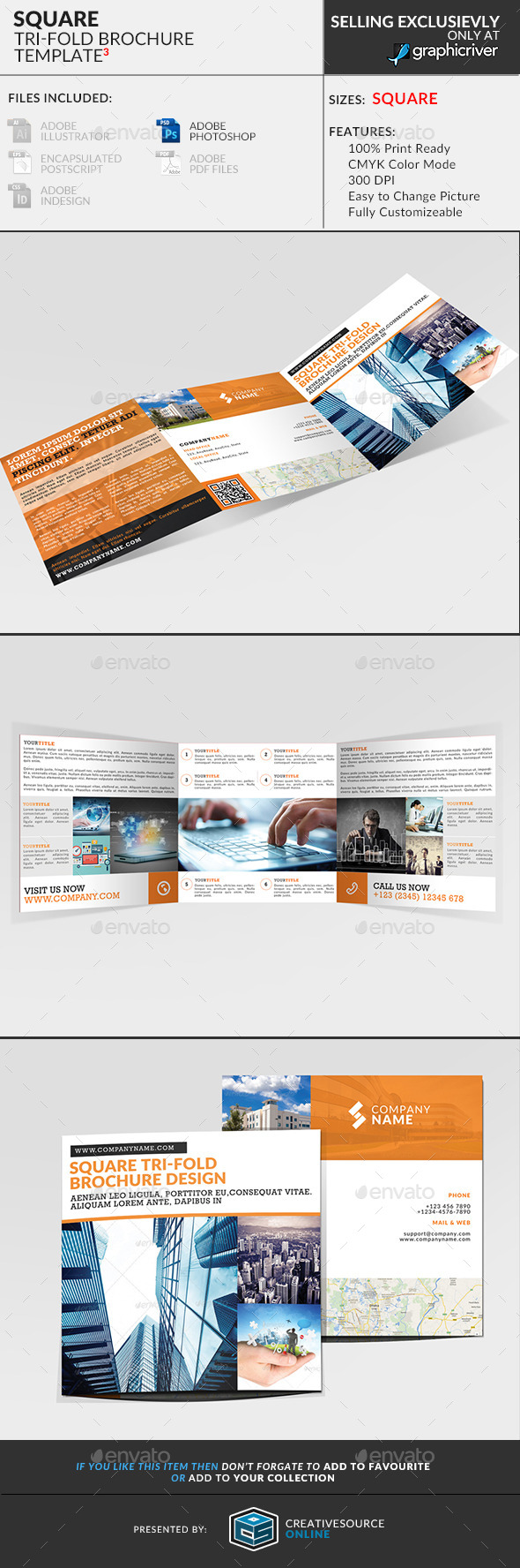 GraphicRiver Square Trifold Brochure 3 9443423
