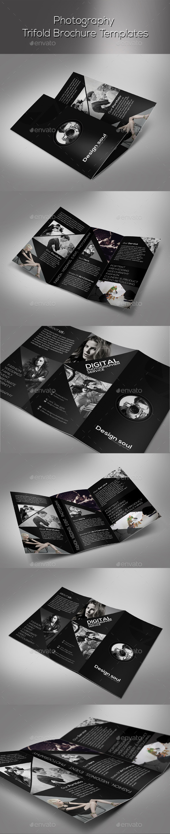 GraphicRiver Photography Trifold Brochure 9443804