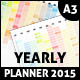 2015 Colored Wall Year Planner - GraphicRiver Item for Sale