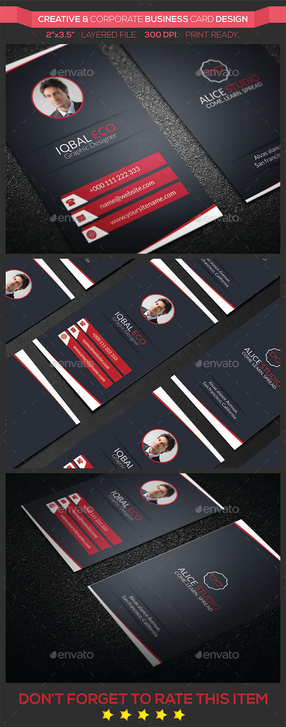 GraphicRiver Creative & Corporate Business Card Design 9380501