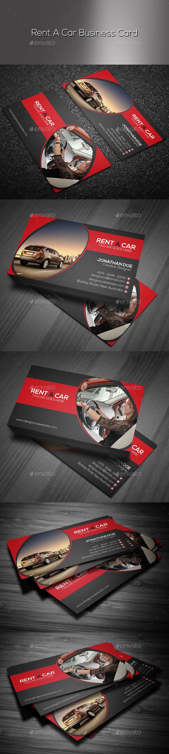 GraphicRiver Rent A Car Business Card 9444262