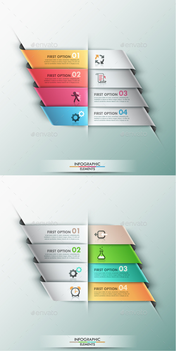 GraphicRiver Modern Infographic Options Banner 2 Colors 9444329