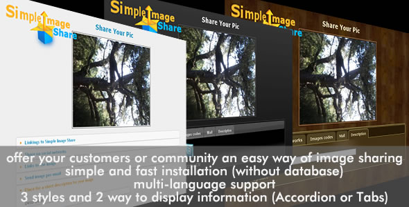 CodeCanyon Simple Image Share 120835