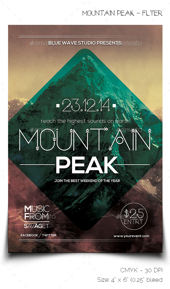 GraphicRiver Mountain Peak Flyer 9407610