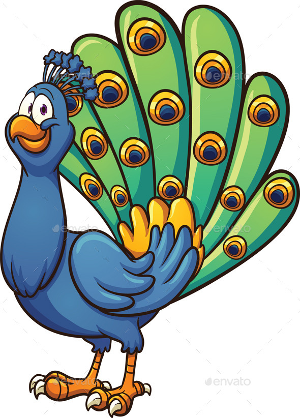 GraphicRiver Cartoon Peacock 9444581