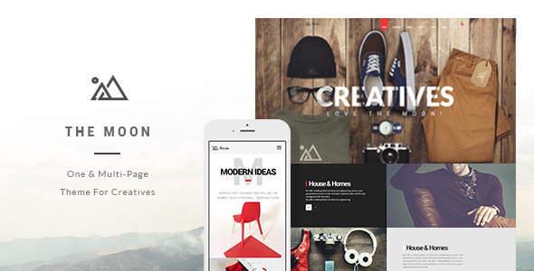 ThemeForest The Moon Creative One Page Multi-Purpose Theme 9444691