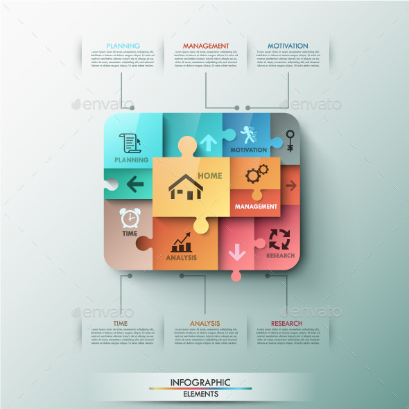 GraphicRiver Moddern Infographic Puzzle Template 9444693