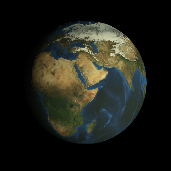 3DOcean HD Earth Model 9444737