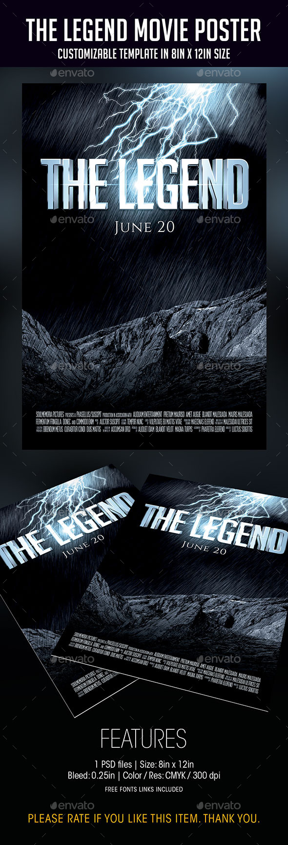 GraphicRiver The Legend Movie Poster 9444814