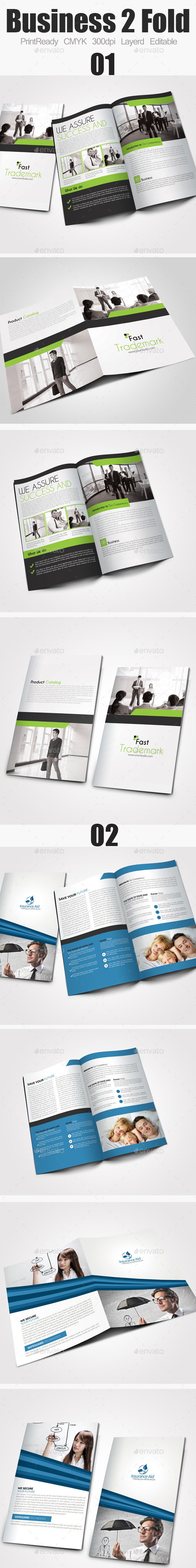 GraphicRiver Bi Fold Business Brochure Bundle 9444908
