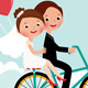 Newlyweds Bike - GraphicRiver Item for Sale