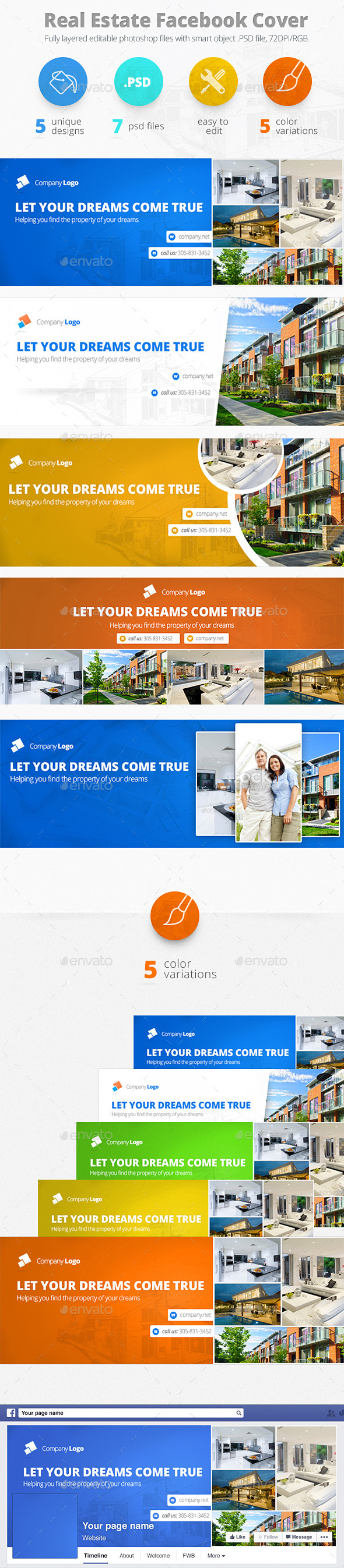 GraphicRiver Real Estate Facebook Cover 9445106